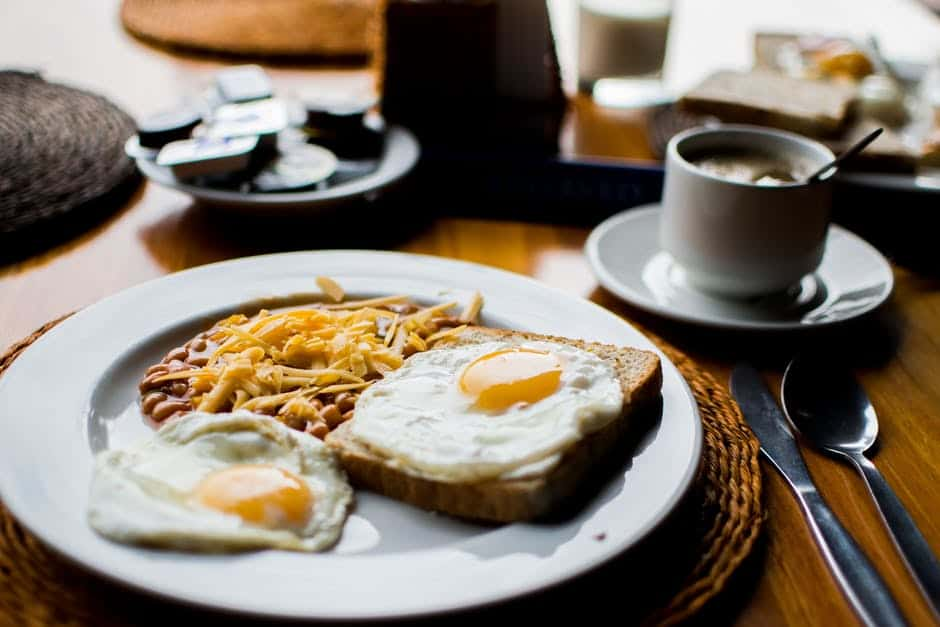 egg and coffee
